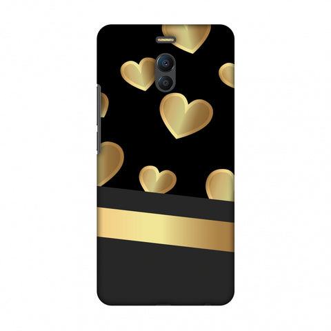 Golden Hearts Slim Hard Shell Case For Meizu Note 6