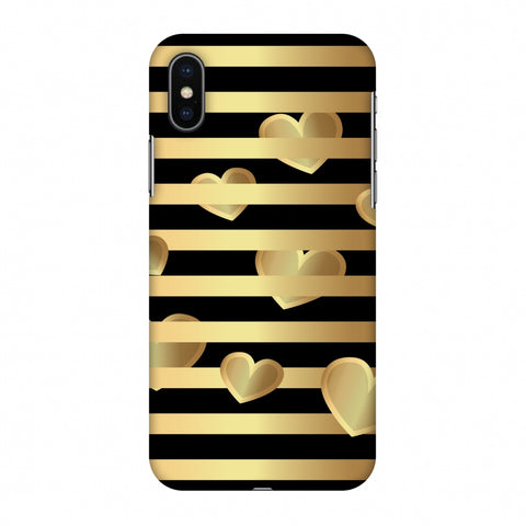 Hearts Between Lines Slim Hard Shell Case For Apple iPhone X