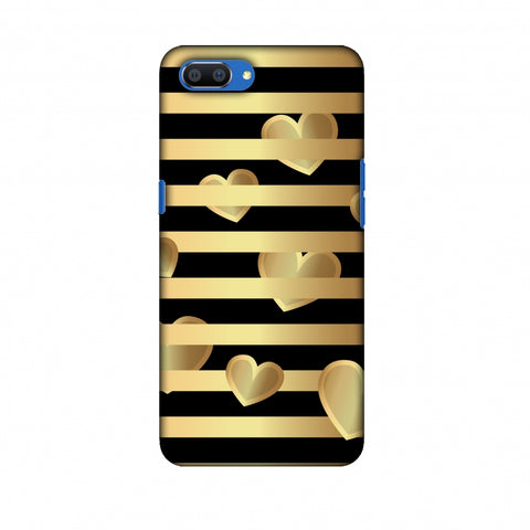 Hearts Between Lines Slim Hard Shell Case For Oppo Realme C1