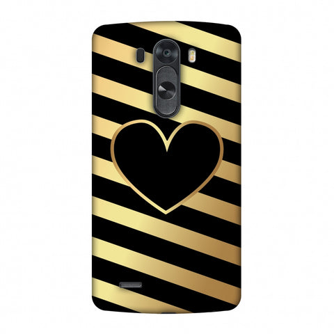 Diagonal Heart Lines Slim Hard Shell Case For LG G4