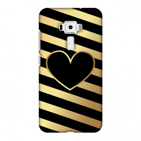 Diagonal Heart Lines Slim Hard Shell Case For Asus Zenfone 3 ZE520KL