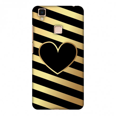 Diagonal Heart Lines Slim Hard Shell Case For Vivo V3 Max