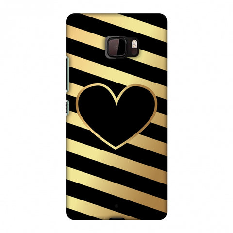 Diagonal Heart Lines Slim Hard Shell Case For HTC U Ultra