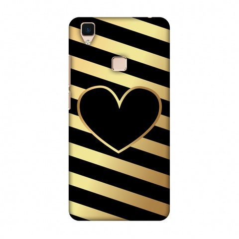 Diagonal Heart Lines Slim Hard Shell Case For Vivo V3