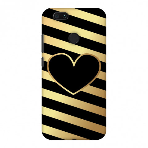 Diagonal Heart Lines Slim Hard Shell Case For Xiaomi MI A1-5X