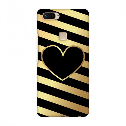 Diagonal Heart Lines Slim Hard Shell Case For Vivo X20 Plus