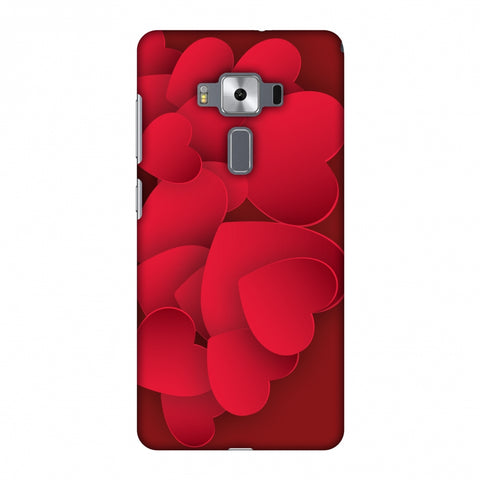 Red Hearts Slim Hard Shell Case For Asus Zenfone 3 Deluxe ZS570KL