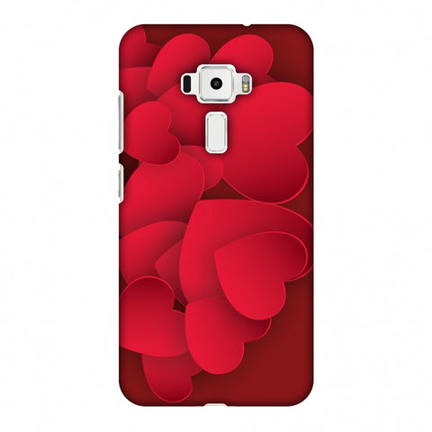 Red Hearts Slim Hard Shell Case For Asus Zenfone 3 ZE520KL