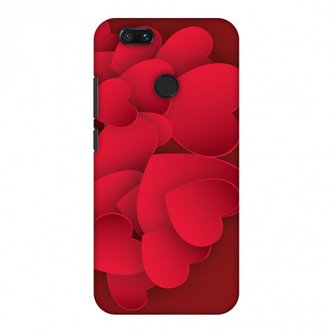 Red Hearts Slim Hard Shell Case For Xiaomi MI A1-5X