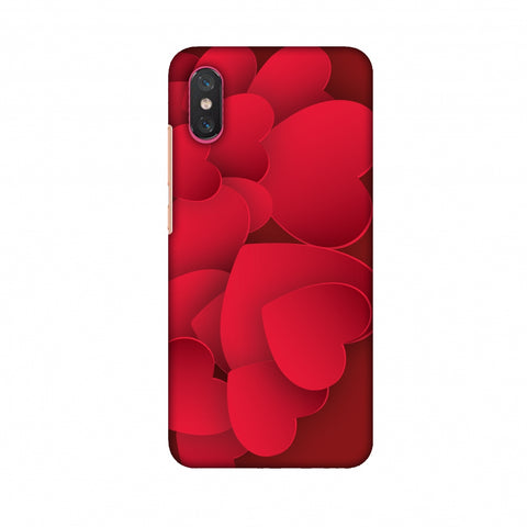 Red Hearts Slim Hard Shell Case For Xiaomi Mi 8 Pro