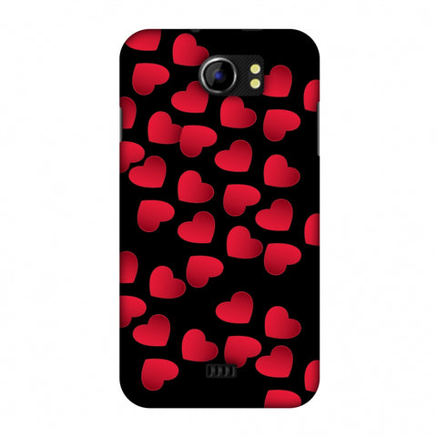 Floating Hearts Slim Hard Shell Case For Micromax Canvas 2 A110