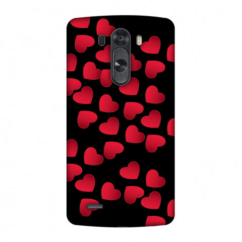 Floating Hearts Slim Hard Shell Case For LG G4