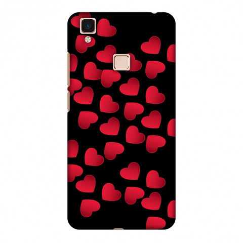 Floating Hearts Slim Hard Shell Case For Vivo V3 Max