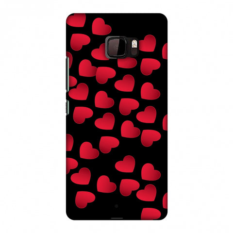 Floating Hearts Slim Hard Shell Case For HTC U Ultra