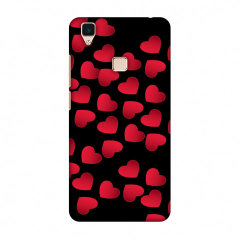 Floating Hearts Slim Hard Shell Case For Vivo V3