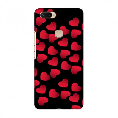 Floating Hearts Slim Hard Shell Case For Vivo X20 Plus