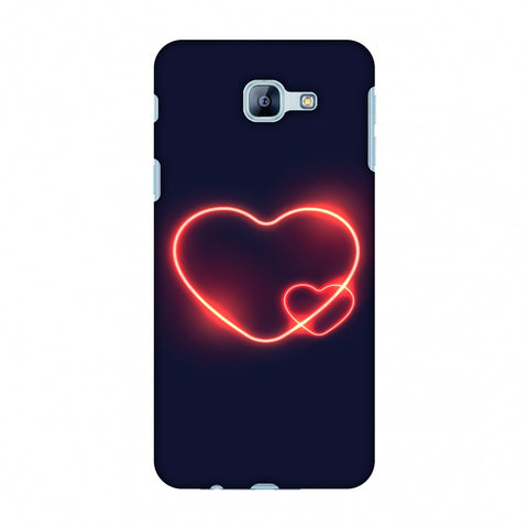 Glowing Heart Slim Hard Shell Case For Samsung Galaxy A8 2016