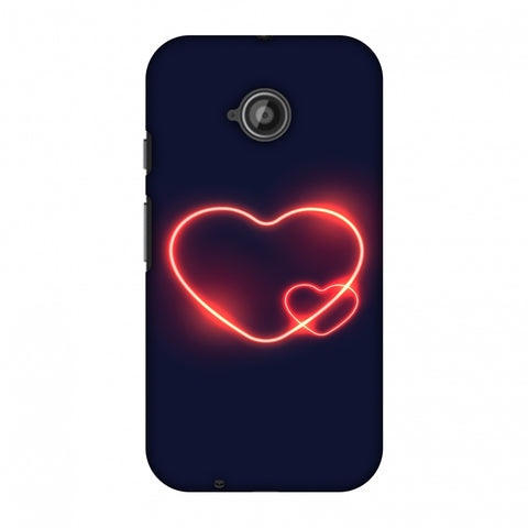 Glowing Heart Slim Hard Shell Case For Motorola Moto E 2nd Gen