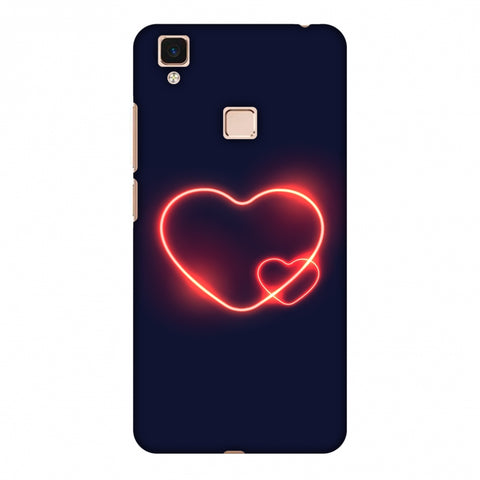Glowing Heart Slim Hard Shell Case For Vivo V3 Max