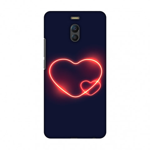 Glowing Heart Slim Hard Shell Case For Meizu Note 6
