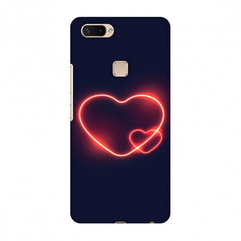 Glowing Heart Slim Hard Shell Case For Vivo X20 Plus