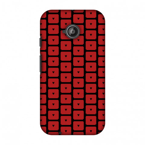Small Hearts Pattern Slim Hard Shell Case For Motorola Moto E 2nd Gen
