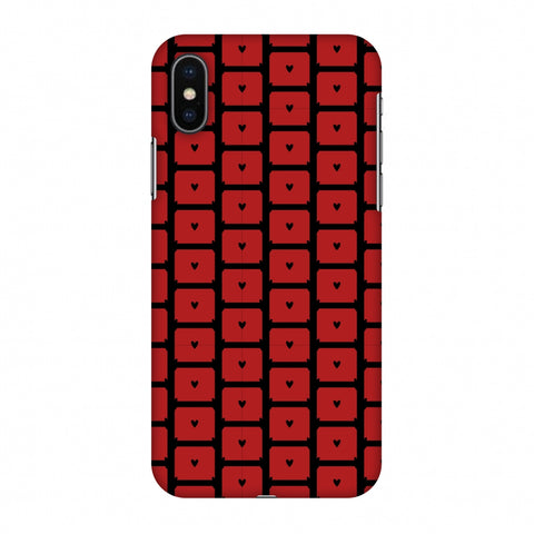 Small Hearts Pattern Slim Hard Shell Case For Apple iPhone X