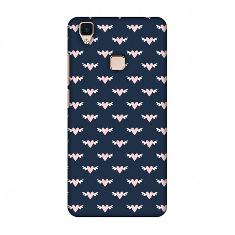 Flying Hearts Pattern Slim Hard Shell Case For Vivo V3