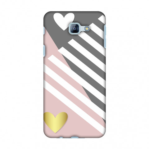 Geometric Shapes & Hearts Slim Hard Shell Case For Samsung Galaxy A8 2016