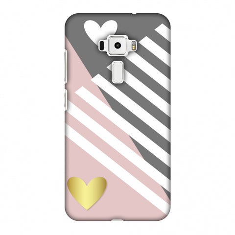 Geometric Shapes & Hearts Slim Hard Shell Case For Asus Zenfone 3 ZE520KL