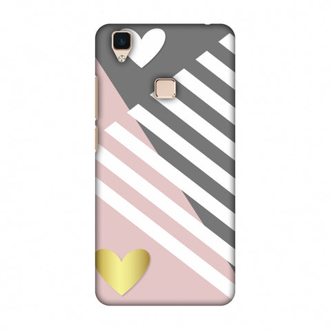 Geometric Shapes & Hearts Slim Hard Shell Case For Vivo V3