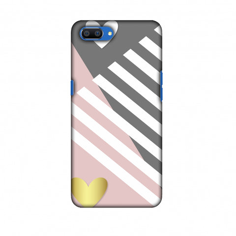 Geometric Shapes & Hearts Slim Hard Shell Case For Oppo Realme C1