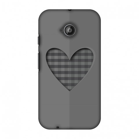 Grey Heart Slim Hard Shell Case For Motorola Moto E 2nd Gen
