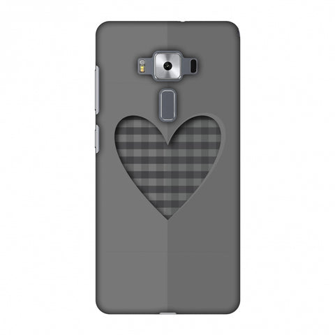 Grey Heart Slim Hard Shell Case For Asus Zenfone 3 Deluxe ZS570KL