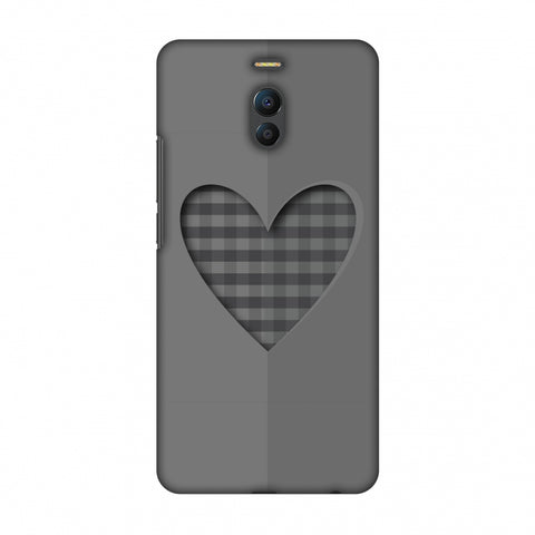 Grey Heart Slim Hard Shell Case For Meizu Note 6