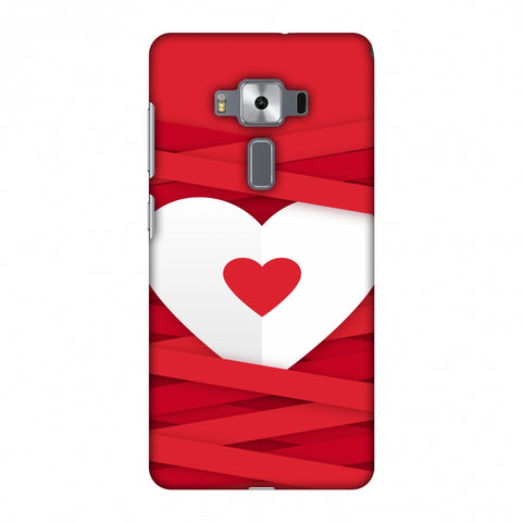 Heart In Ribbons Slim Hard Shell Case For Asus Zenfone 3 Deluxe ZS570KL
