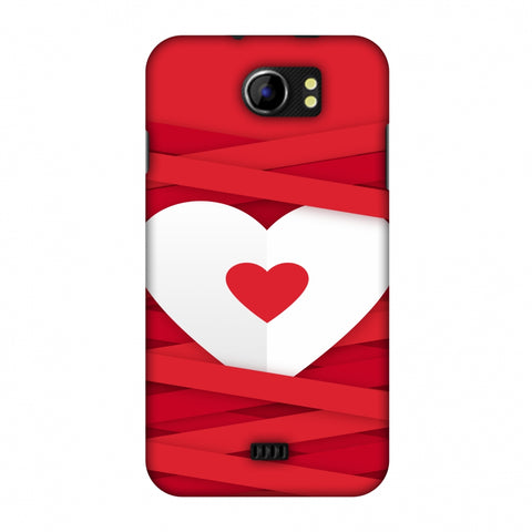 Heart In Ribbons Slim Hard Shell Case For Micromax Canvas 2 A110