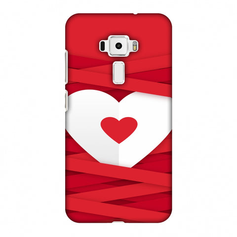 Heart In Ribbons Slim Hard Shell Case For Asus Zenfone 3 ZE520KL