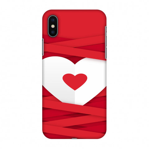Heart In Ribbons Slim Hard Shell Case For Apple iPhone X