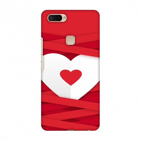 Heart In Ribbons Slim Hard Shell Case For Vivo X20 Plus