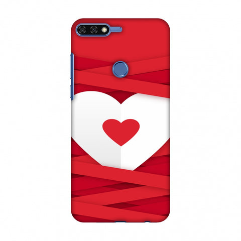 Heart In Ribbons Slim Hard Shell Case For Huawei Honor 7C