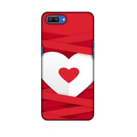Heart In Ribbons Slim Hard Shell Case For Oppo Realme C1