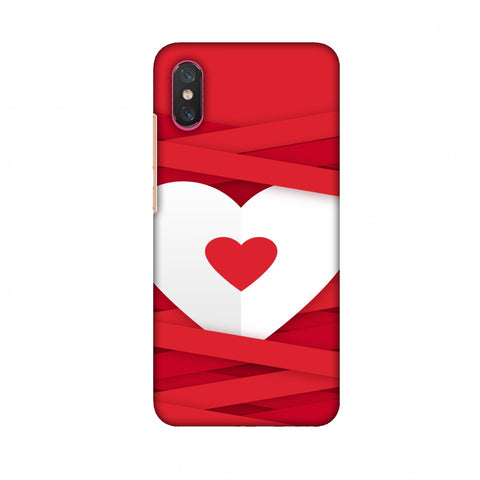 Heart In Ribbons Slim Hard Shell Case For Xiaomi Mi 8 Pro