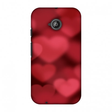 Faded Hearts Slim Hard Shell Case For Motorola Moto E 2nd Gen