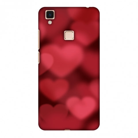 Faded Hearts Slim Hard Shell Case For Vivo V3 Max