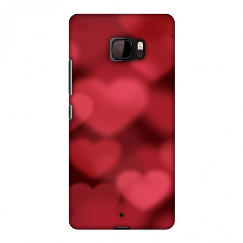 Faded Hearts Slim Hard Shell Case For HTC U Ultra