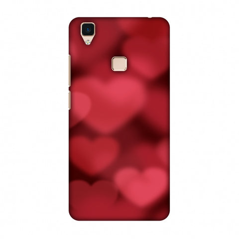Faded Hearts Slim Hard Shell Case For Vivo V3