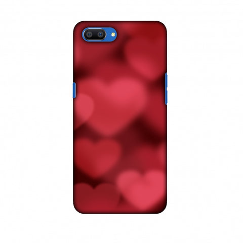 Faded Hearts Slim Hard Shell Case For Oppo Realme C1