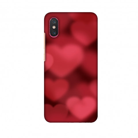 Faded Hearts Slim Hard Shell Case For Xiaomi Mi 8 Pro