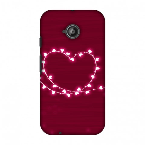 Heart Lights Slim Hard Shell Case For Motorola Moto E 2nd Gen